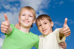 Two happy brothers y Stock Photography