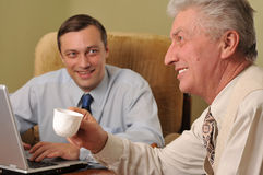 Two Happy Businessman In Office Royalty Free Stock Images