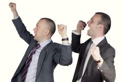 Two happy businessmen Royalty Free Stock Image
