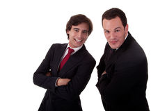Two happy businessmen Royalty Free Stock Photos