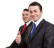 Two happy businessmen Stock Photos