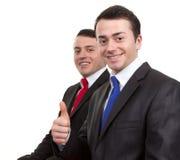 Two happy businessmen Stock Photos