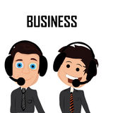 Two happy businessmen Stock Photography