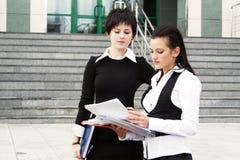 Two happy businesswomen Stock Photos