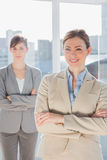 Two happy businesswomen Royalty Free Stock Photos
