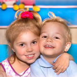 Two happy child Royalty Free Stock Images