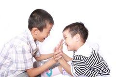 Two happy children Stock Image