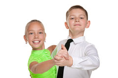 Two happy dancing children Stock Photos