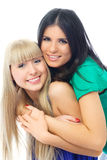 Two Happy Embracing Friends Stock Photography