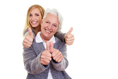 Two happy generations Royalty Free Stock Image