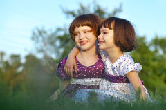 Two happy girl Royalty Free Stock Photos