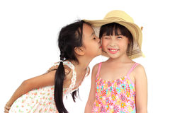 Two happy girl Royalty Free Stock Photo