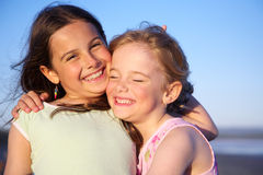 Two happy girls Stock Photography