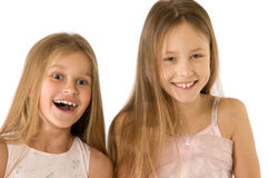 Two happy girls Royalty Free Stock Images