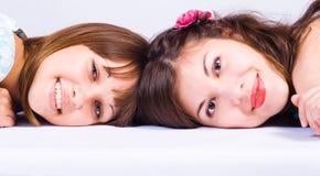 Two happy girls friends. Stock Photo