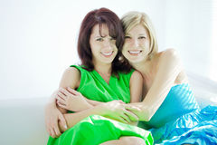 Two happy girls, sisters Royalty Free Stock Photo