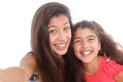 Two happy girls Royalty Free Stock Photography