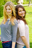 Two happy girls Stock Photos