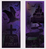 Two happy halloween banners Stock Photos
