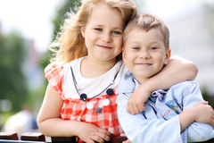 Two happy kids Royalty Free Stock Image