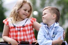 Two happy kids Stock Image