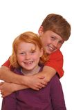 Two happy kids Royalty Free Stock Images
