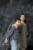 Two happy kids stock photos
