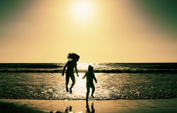 Two happy kids Stock Images