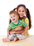 Two happy kids together Stock Photography