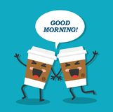 Morning begins with coffee Stock Images