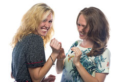 Two happy laughing women Stock Images