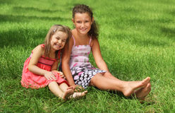 Two happy little girls  Royalty Free Stock Image