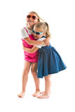 Two happy little sisters Royalty Free Stock Photography