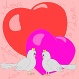 Two happy pigeons girls . Royalty Free Stock Images