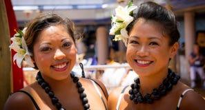 Two happy Polynesian women Stock Images