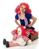 Two Happy Rag Dolls Stock Image