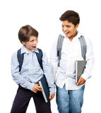 Two happy schoolboys Royalty Free Stock Photos