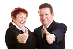 Two happy senior people Stock Images