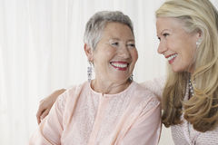 Two Happy Senior Women Royalty Free Stock Photo