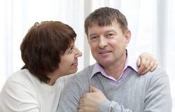 Two happy Seniors Stock Images
