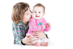 Two happy siblings playing together Royalty Free Stock Images