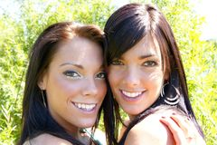 Two happy sisters Royalty Free Stock Photo