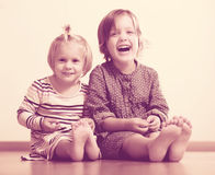 Two happy  sisters Royalty Free Stock Photos