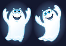 Two Happy Smiling Ghosts Stock Images