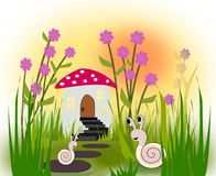 Two happy Snails Royalty Free Stock Photography