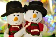 Two happy snowman Stock Photo