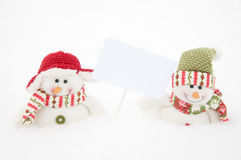 Two happy snowman Royalty Free Stock Photo
