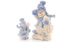 Two happy snowmen Royalty Free Stock Image