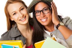 Two happy students Royalty Free Stock Photos
