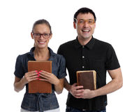 Two happy students Stock Images
